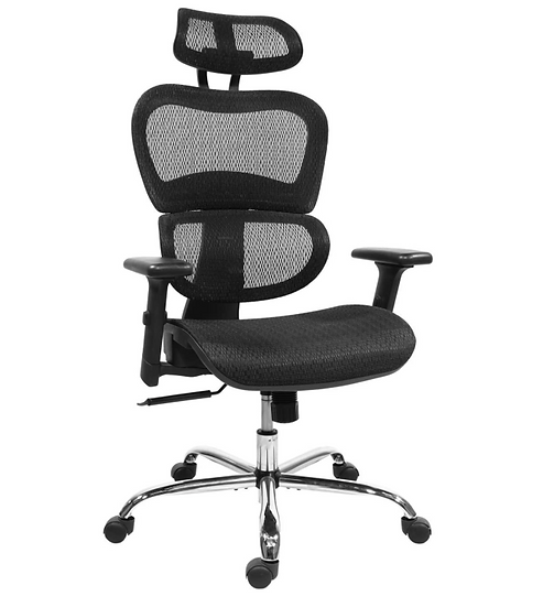 Rimiking Mesh Ergonomic High Back Mesh Chair with 3D Adjustable Arms (Black)