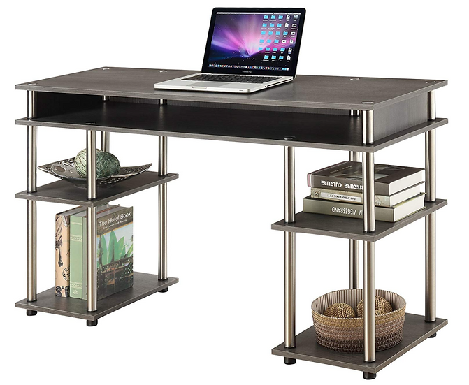 Convenience Concepts Coloured Modern Desk (Charcoal Gray)