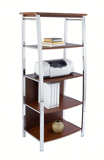 Realspace Mezza 4 Shelf Bookcase (Cherry)
