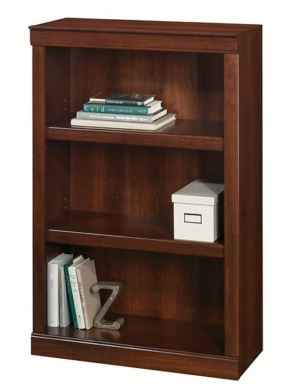 Realspace 3-Shelf Bookcase (Mulled Cherry)
