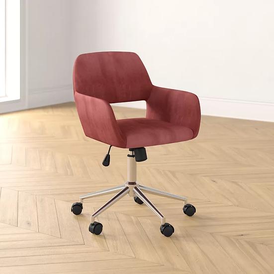 Elliana Velvet Task Chair - Pink