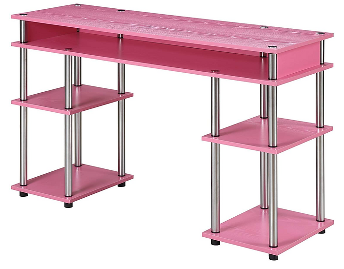 Convenience Concepts Coloured Modern Desk (Pink)