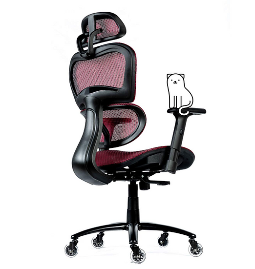 ObjectChair ErgoPro Office/Gaming Chair with Breathable Mesh Back (Red)