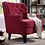 Thumbnail: Paule 29'' Wide Tufted Polyester Wingback Chair - Burgundy
