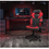 Thumbnail: Flash X10 Leather Soft Gaming Chair with FlipUp Arms (Red & Black)