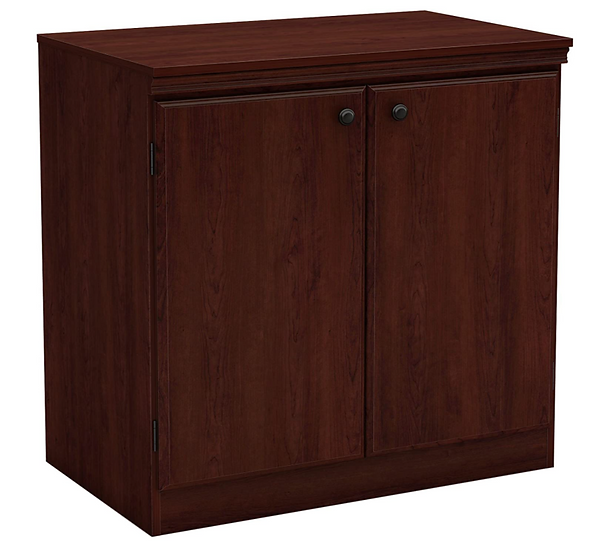 South Shore Morgan 2- Door Storage Cabinet with Adjustable Shelf (Royal Cherry)