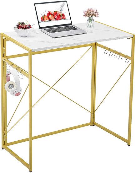 """Mr IRONSTONE 31.5"""" Folding Computer Desk, High Table Standing Desk Workstation"""