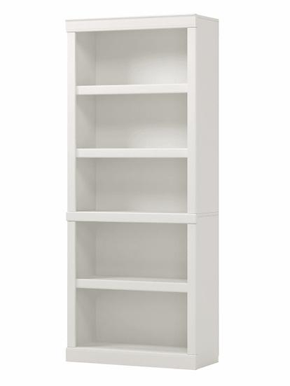 """Realspace® 72""""H 5-Shelf Bookcase, Arctic White"""