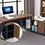 "Thumbnail: Tribesigns L-Shaped 55"" Executive Workstation with 47"" File Cabinet Storage"