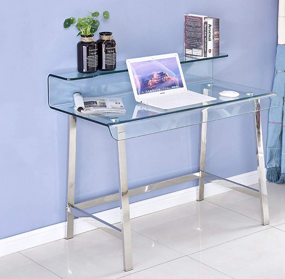 Smartik Modern Computer Thickened Glass Desk