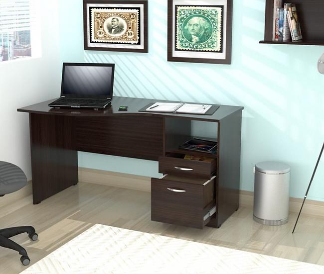 Inval Curved Top Desk (Espresso-Wengue Finish)