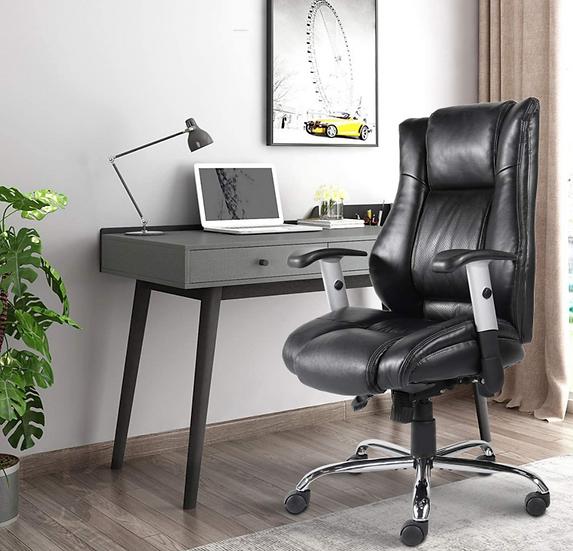 Smugdesk ErgonomicExecutive Bonded Leather Chair (Black)