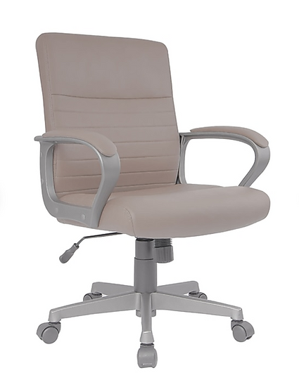 Tervina Luxura Mid-Back Manager Chair (Cream)