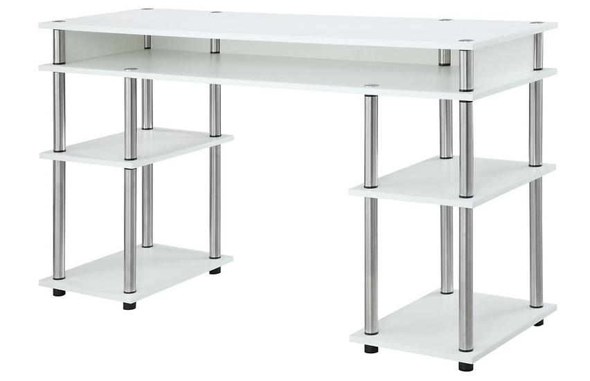 Convenience Concepts Coloured Modern Desk (White)