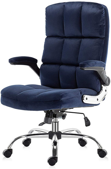 SP Velvet  Executive Chair Adjustable Tilt Angle and Flip-up Arms Lumbar Support