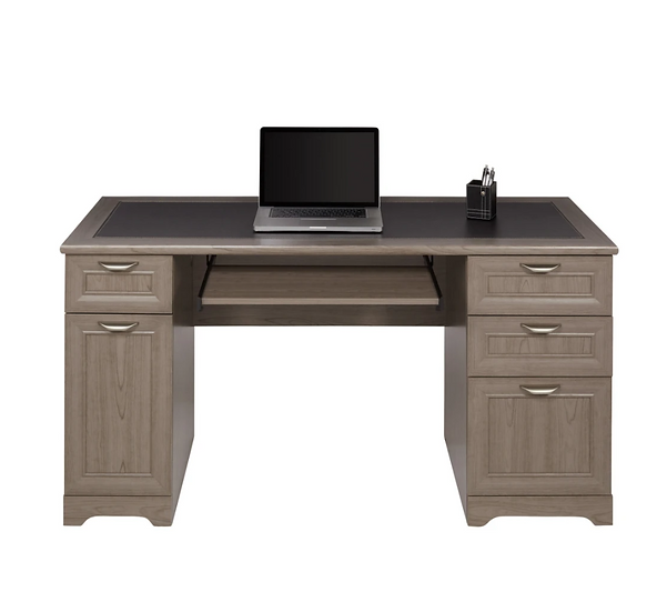 """Realspace® Magellan 59""""W Managers Desk (Gray)"""