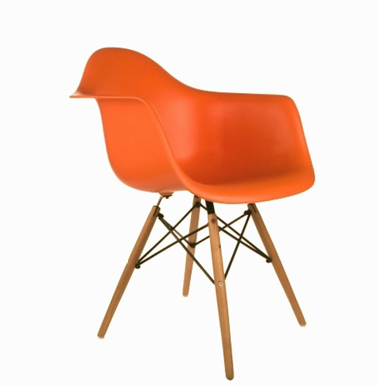 DHP Mid Century Modern Chair with Wooden Legs