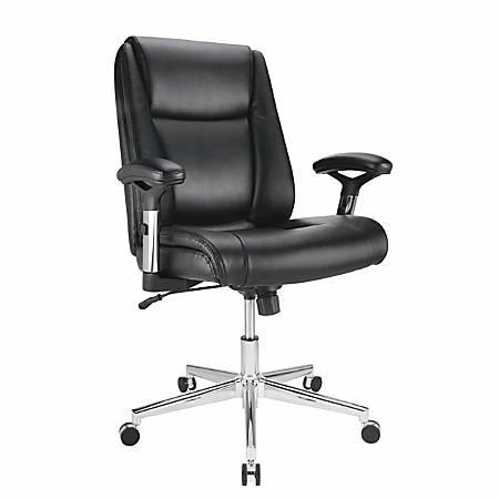Realspace Densey  High-Back Chair, Black & Silver