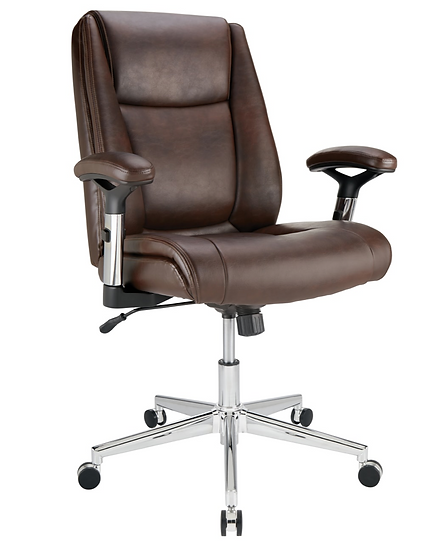 Realspace® Densey Bonded Leather Manager Mid-Back Chair