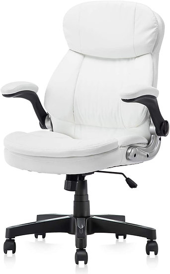 High Back Premium PU Leather Ergonomic Executive Chair with Lumbar Padding and F