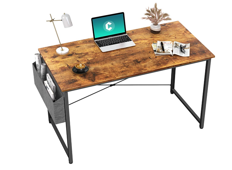 """Cubiker 32"""" Modern Computer/laptop Table with Storage Bag"""