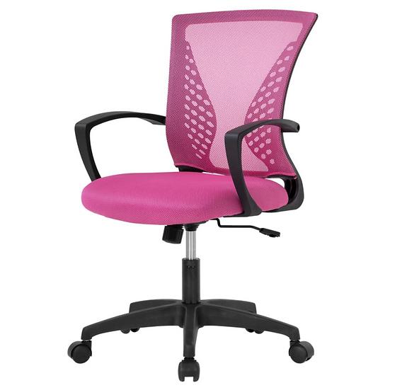 Best Office Mesh Ergonomic Task Chair (pink)