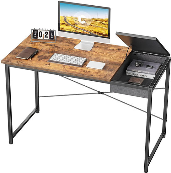 """Cubiker Computer Desk 47"""" Home Office Writing Study Laptop Table, Modern Simple"""