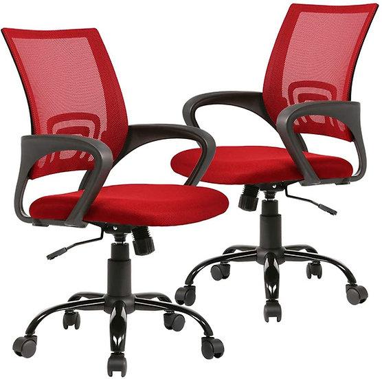 Cavalier Ergonomic Mesh Chair - Red