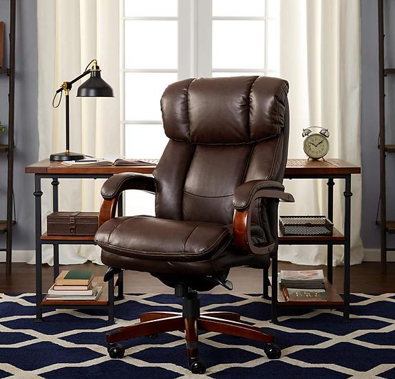La-Z-Boy Fairmont Big & Tall Executive Highback Chair with Memory Foam (Brown)