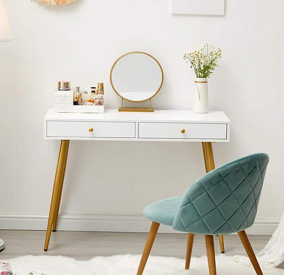 "GreenForest 40"" Vanity Desk with Golden Legs"