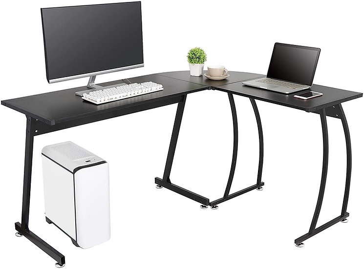 L-Shaped Corner Glass Desk
