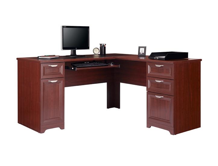 "Realspace Magellan 59""W L-Shaped Desk: Cherry"