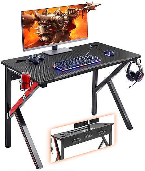 """Mr IRONSTONE Gaming Desk 45.2"""" W x 23.6"""" D Home Office Computer Desk"""