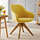 Thumbnail: Art Leon Mid Century Modern Swivel Accent Chair with Wooden Legs (Medium Yellow)