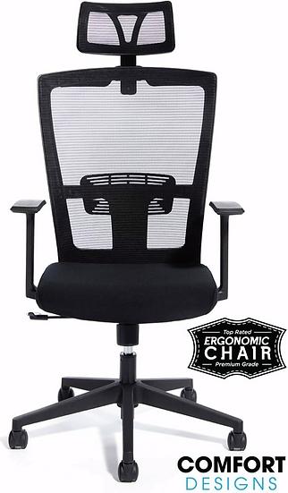 CMO Ergonomic Highback Computer Chair with Headrest