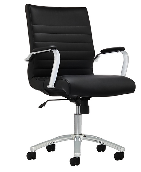 Realspace® Modern Comfort Winsley Bonded Leather Manager Mid-Back Chair