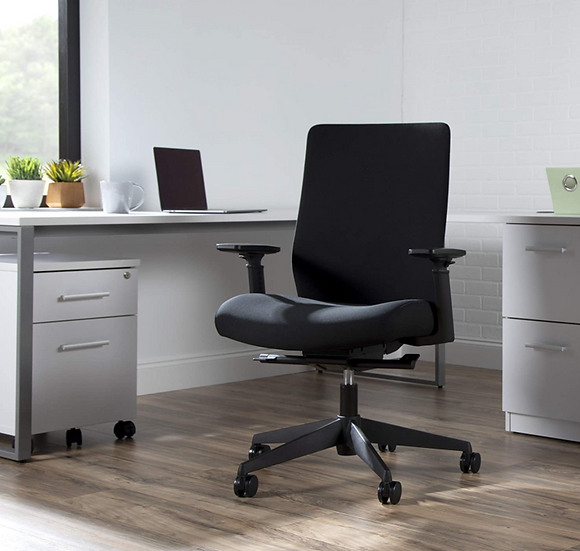 HON Basyx Fabric Upholstered Task Chair (Black)