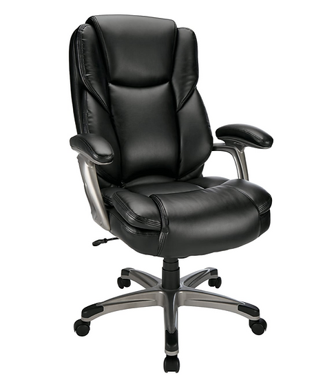 Realspace® Cressfield Bonded Leather Executive High-Back Chair