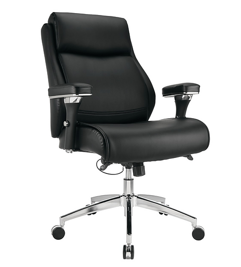 Realspace® Keera Modern Comfort Manager Bonded Leather Mid-Back Chair