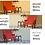 Thumbnail: Mid Century Mordern Fabric Accent Arm Chair (Orange &  Brown)