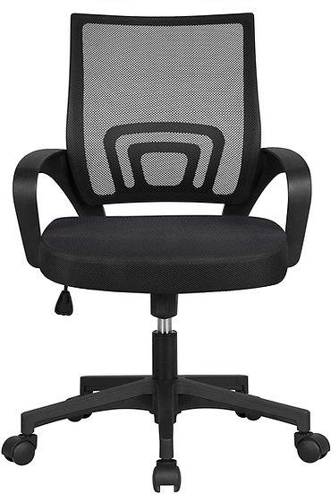 YAHEETECH  Mesh Adjustable Chair Black