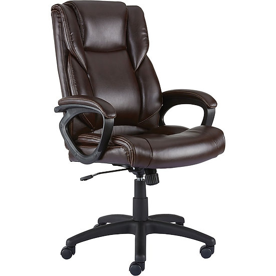 Kelburne Luxura Faux Leather Computer and Desk Chair (Brown)