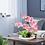 Thumbnail: Decorative Silk Orchid Bonsai Artificial Flower w/ Imitation Porcelain Flowerpot