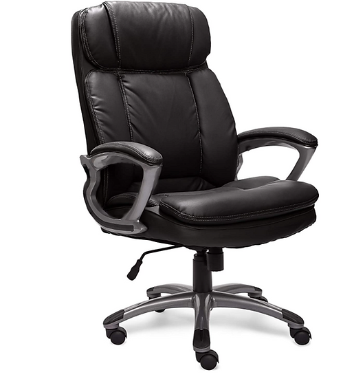 Serta High Back Big & Tall Executive Office Chair with Lumbar Support (Black)