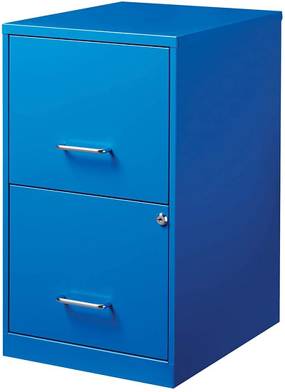 Office Dimensions  2 Drawer Metal SOHO Vertical File Cabinet Classic Blue