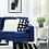 """Thumbnail: Cohutta 71.3"""" Velvet Square Arm Sofa - Blue"""