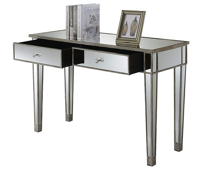 Convenience Gold Coast Mirrored Desk (Weathered White)