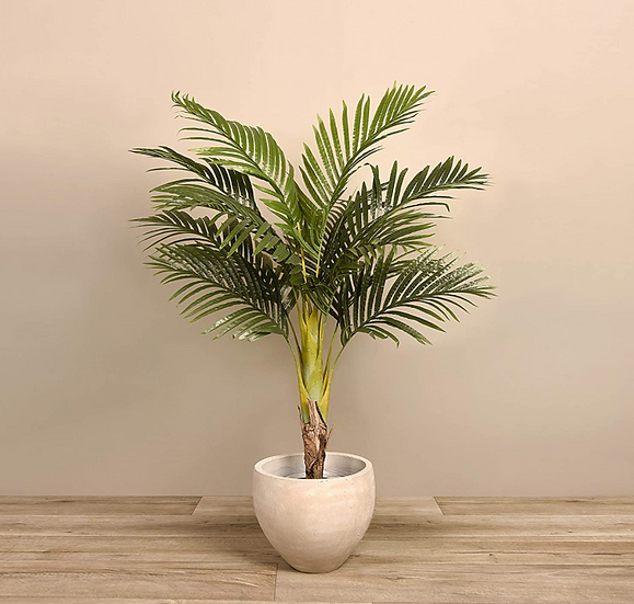 Potted Artificial Silk Areca Palm Tree Indoor Plant