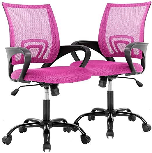 Cavalier Ergonomic Mesh Chair - Pink