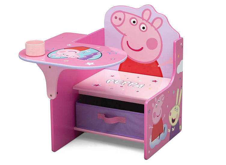 Delta Peppa Pig Children's Chair Desk with Storage Bin